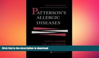 READ  Patterson s Allergic Diseases (Allergic Diseases: Diagnosis   Management (Patterson)) FULL