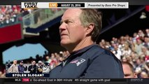 ESPN First Take - Stephen A. Smith Rips Cowboys For Stole Patriots' Slogan