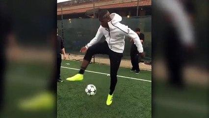 Pogba shows off his slick skills