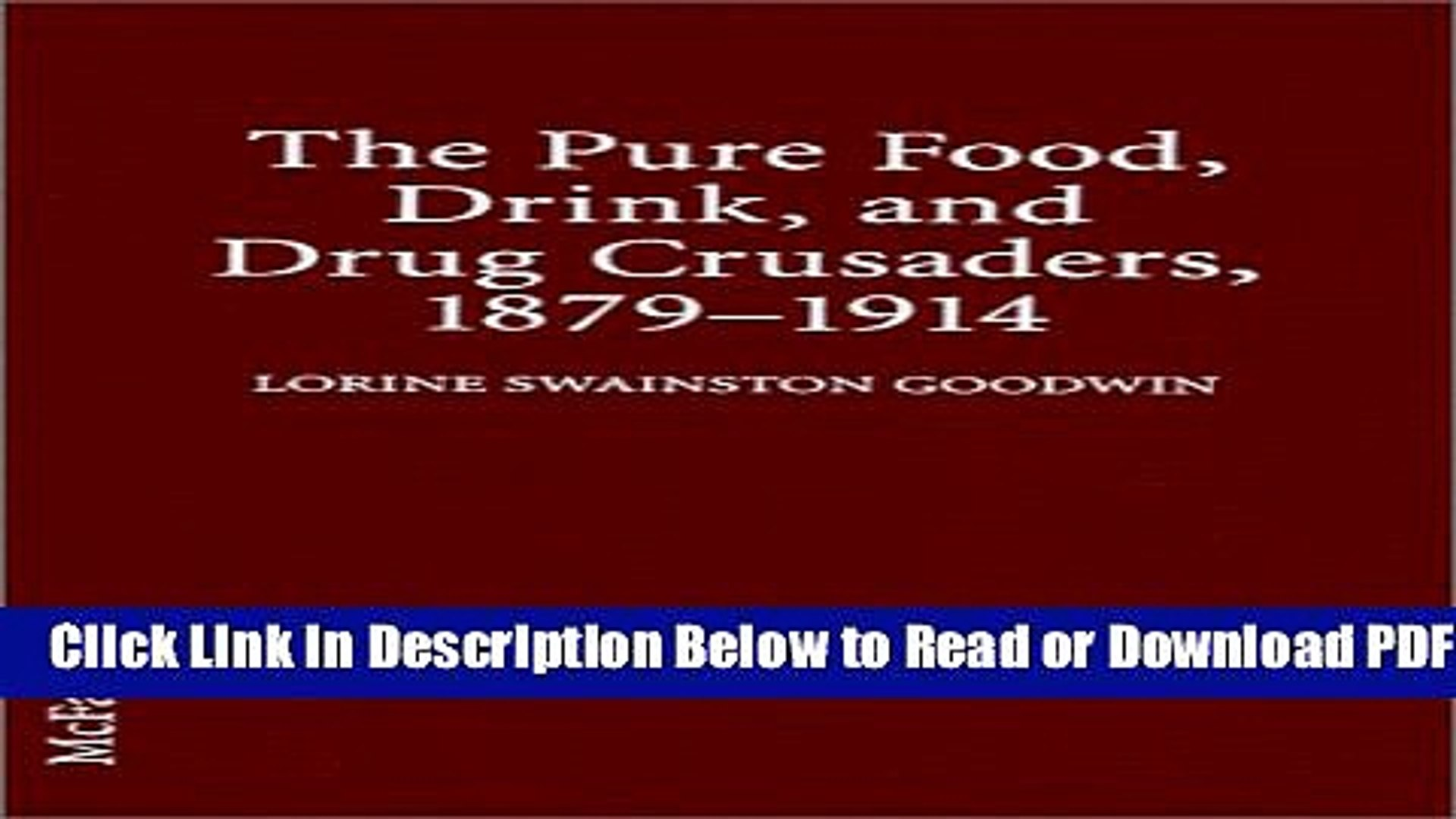 [PDF] The Pure Food, Drink, and Drug Crusaders, 1879-1914 Popular New