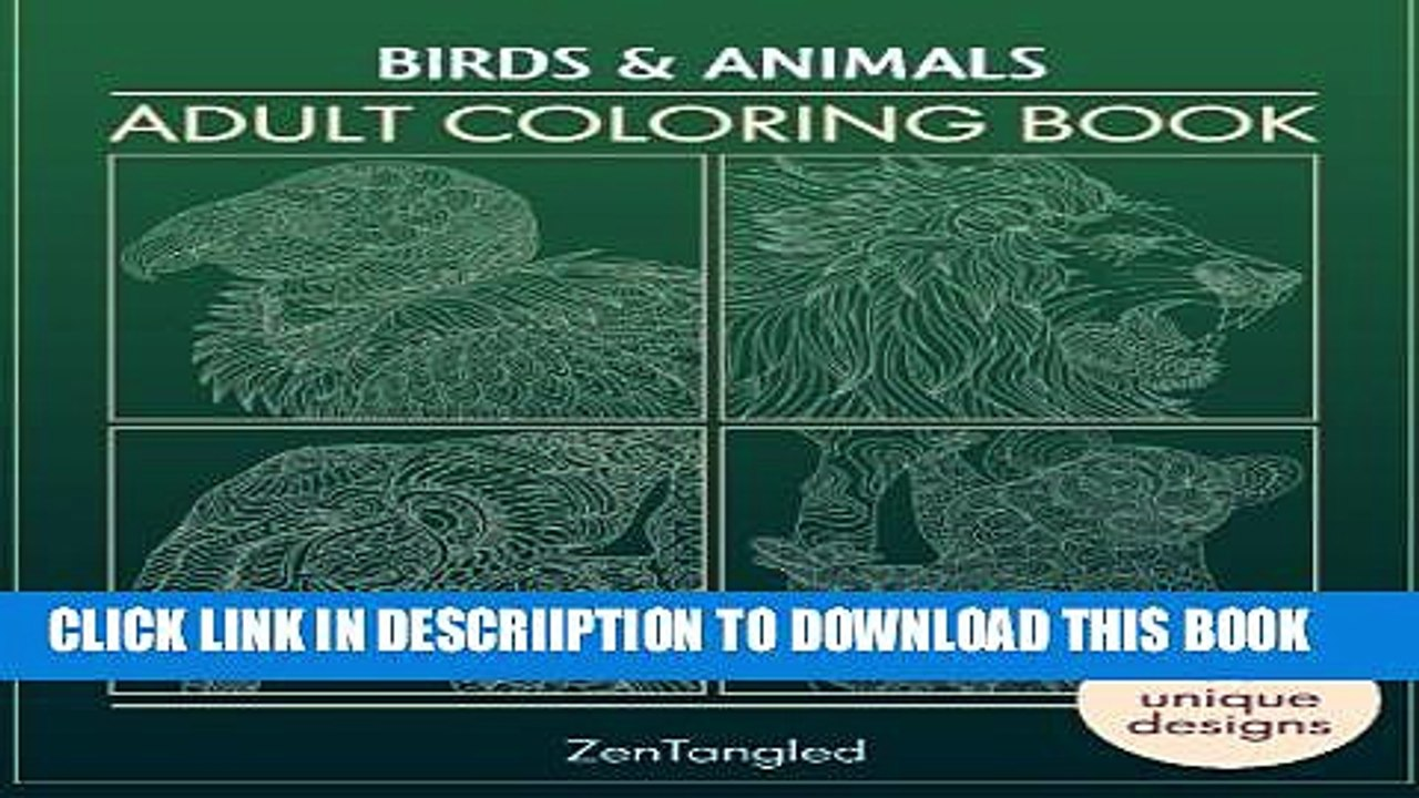 PDF] Adult Coloring Books: Birds Animals: Zentangle Patterns ...