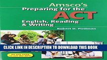 New Book Preparing for the ACT English, Reading   Writing - Student Edition