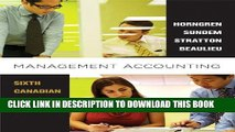 [PDF] Management Accounting, Sixth Canadian Edition Plus MyAccountingLab with Pearson eText --
