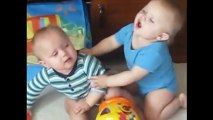 Funny Cute Twin Babies Fighting Compilation   Funny Twins Baby Fighting Videos