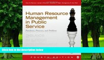 Big Deals  Human Resource Management in Public Service: Paradoxes, Processes, and Problems  Free