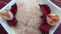 feet spa treatment - feet mixture for feet bath - how to make natural bath for tired feet