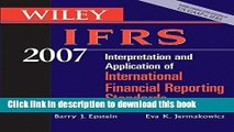 Read Wiley IFRS 2007: Interpretation and Application of International Financial Reporting