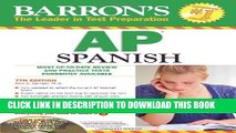 New Book Barron s AP Spanish with Audio CDs and CD-ROM (Barron s AP Spanish (W/CD   CD-ROM))