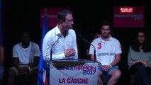 """Benoît Hamon : """"Vous aussi avez été surpris un matin par quelqu'un à la télé vous disait """"Hé ho la gauche !"""""""
