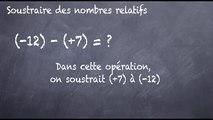 5ème Les nombres relatifs Soustraction de nombres relatifs