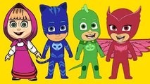 Masha And The Bear with PJ Masks Catboy Gekko Owlette parody - Masha And The Bear Videos