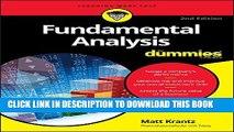 [PDF] Fundamental Analysis For Dummies Full Online