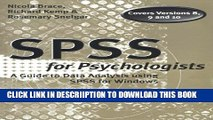 [PDF] SPSS for Psychologists: A Guide to Data Analysis Using Spss for Windows Full Collection