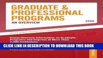 Collection Book Grad Guides Book 1:  Grad/Prof Progs Overvw 2009 (Peterson s Graduate