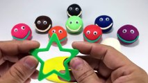 Play Creative & Learn Colours with Play Dough Smiley Face Fun Star Molds Fun ! Music for Kids