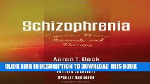 Collection Book Schizophrenia: Cognitive Theory, Research, and Therapy