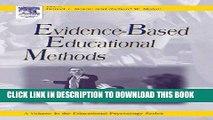 New Book Evidence-Based Educational Methods (Educational Psychology)