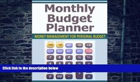 Big Deals  Monthly Budget Planner: Money Management for Personal Budget  Best Seller Books Most