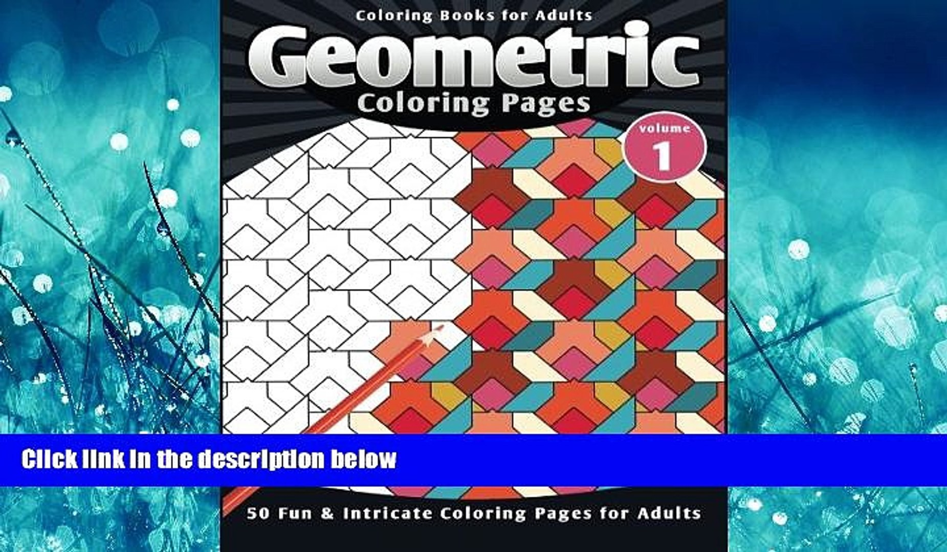 Enjoyed Read Coloring Books for Adults Geometric: Coloring Pages (Fun  Intricate Coloring Pages