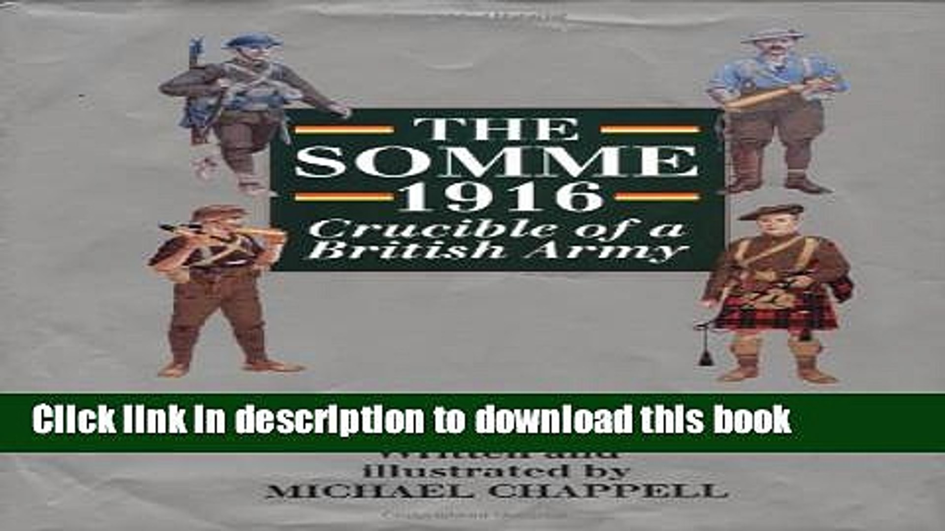 Read The Somme 1916: Crucible of a British Army  Ebook Free