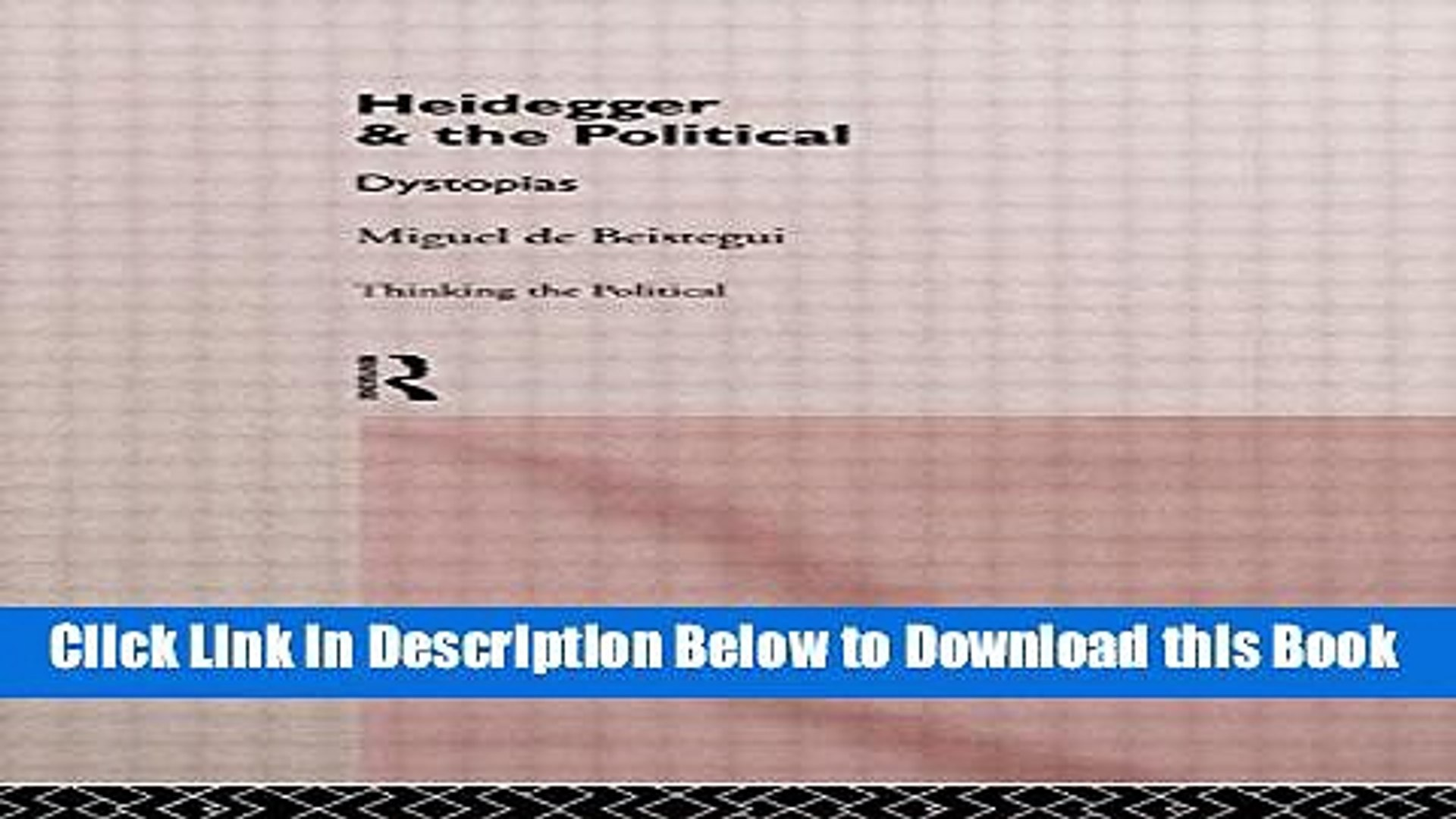 [Best] Heidegger and the Political (Thinking the Political) Free Books