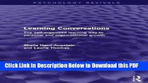 [Read] Learning Conversations: The Self-Organised Learning Way to Personal and Organisational