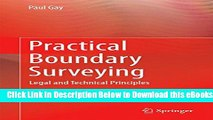 [Reads] Practical Boundary Surveying: Legal and Technical Principles Free Books