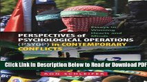 [Download] Perspectives of Psychological Operations (PSYOP) in Contemporary Conflicts: Essays in