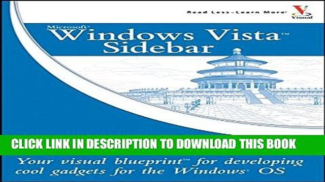 [PDF] Windows Vista Sidebar: Your visual blueprint for developing cool gadgets for the Windows OS