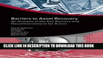 [PDF] Barriers to Asset Recovery  An Analysis of the Key Barriers and Recommendations for Action