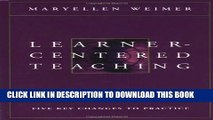 [PDF] Learner-Centered Teaching: Five Key Changes to Practice Popular Colection