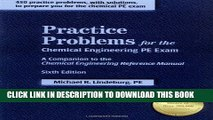 Collection Book Practice Problems for the Chemical Engineering PE Exam: A Companion to the