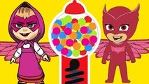 Masha And The Bear with PJ Masks Catboy Gekko Owlette Gumball parody - Masha And The Bear