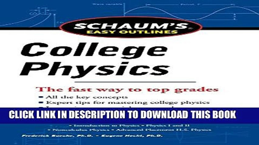 New Book Schaum s Easy Outline of College Physics, Revised Edition (Schaum  s Easy Outlines)