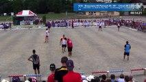 Fin de la finale G18, France Simple, Sport Boules, Thonon 2016