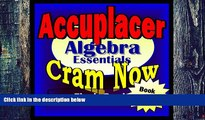 Big Deals  Accuplacer Prep Test ALGEBRA REVIEW Flash Cards--CRAM NOW!--Accuplacer Exam Review