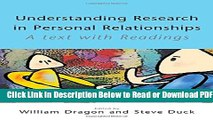 [Get] Understanding Research in Personal Relationships: A Text With Readings Popular New