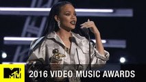 Rihanna Accepts Michael Jackson Vanguard Award   2016 Video Music Awards   MTV