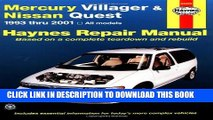 PDF Mercury Villager and Nissan Quest 1993-2001 (Haynes