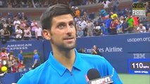 Novak Djokovic chante de Phil Collins et danse à l'US OPEN - I can't dance