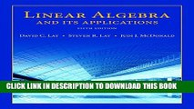 PDF] Linear Algebra and Its Applications (5th Edition) Full