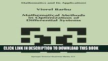 [PDF] Mathematical Methods in Optimization of Differential Systems (Mathematics and Its
