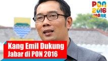 Dukungan Walikota Bandung Ridwan Kamil Untuk Kontingen Jawa Barat di PON 2016