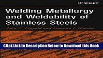 [Best] Welding Metallurgy and Weldability of Stainless Steels Online Ebook