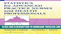 [PDF] Statistics for Advanced Practice Nurses and Health Professionals Full Collection