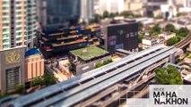 Nouveaux gratte-ciels de Thailande en mode gros pixels