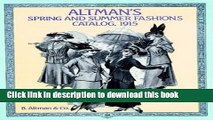 Read Altman s Spring and Summer Fashions Catalog, 1915 (Altman s Spring   Summer Fashions