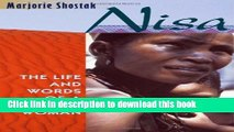 Read Nisa: The Life and Words of a !Kung Woman  PDF Free
