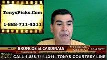 Arizona Cardinals vs. Denver Broncos Free Pick Prediction NFL Preseason Pro Football Odds Preview 9-1-2016