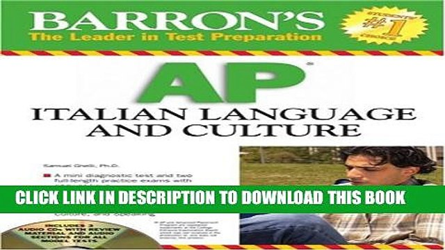 [PDF] Barron s AP Italian Language and Culture: with Audio CDs [Online Books]